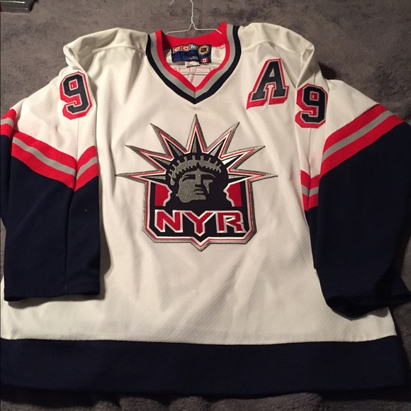 save off f5f2b 1dbd1 New York Rangers Adam Graves White Liberty Jersey